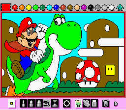 Mario Paint (Joystick) - Coloring Book Image~Dont use for competiton~ - User Screenshot